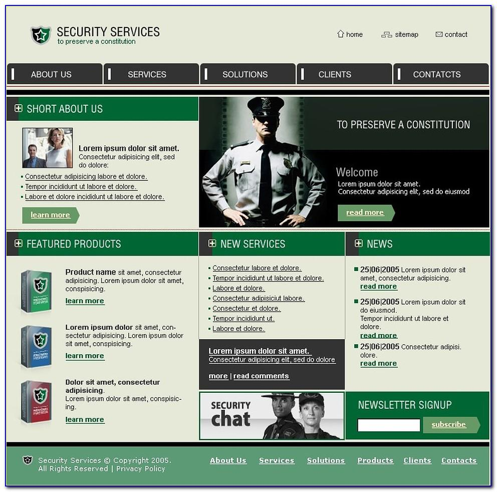 Security Guard Agency Website Templates Free Download