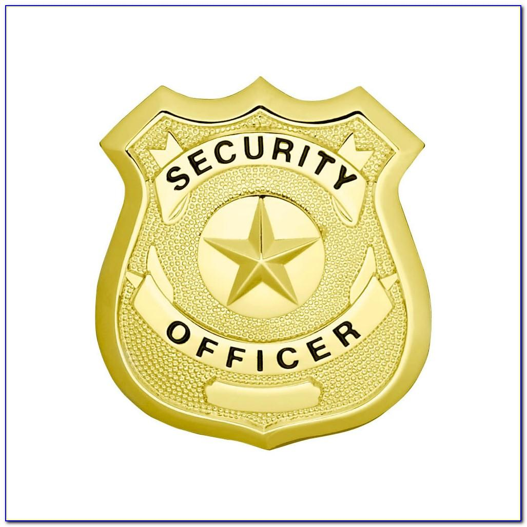 Security Guard Badge Template