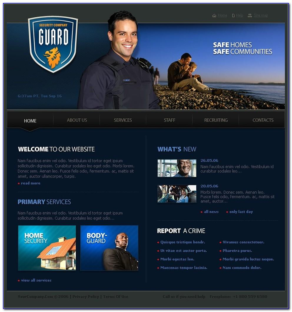 Security Guard Website Templates Free Download