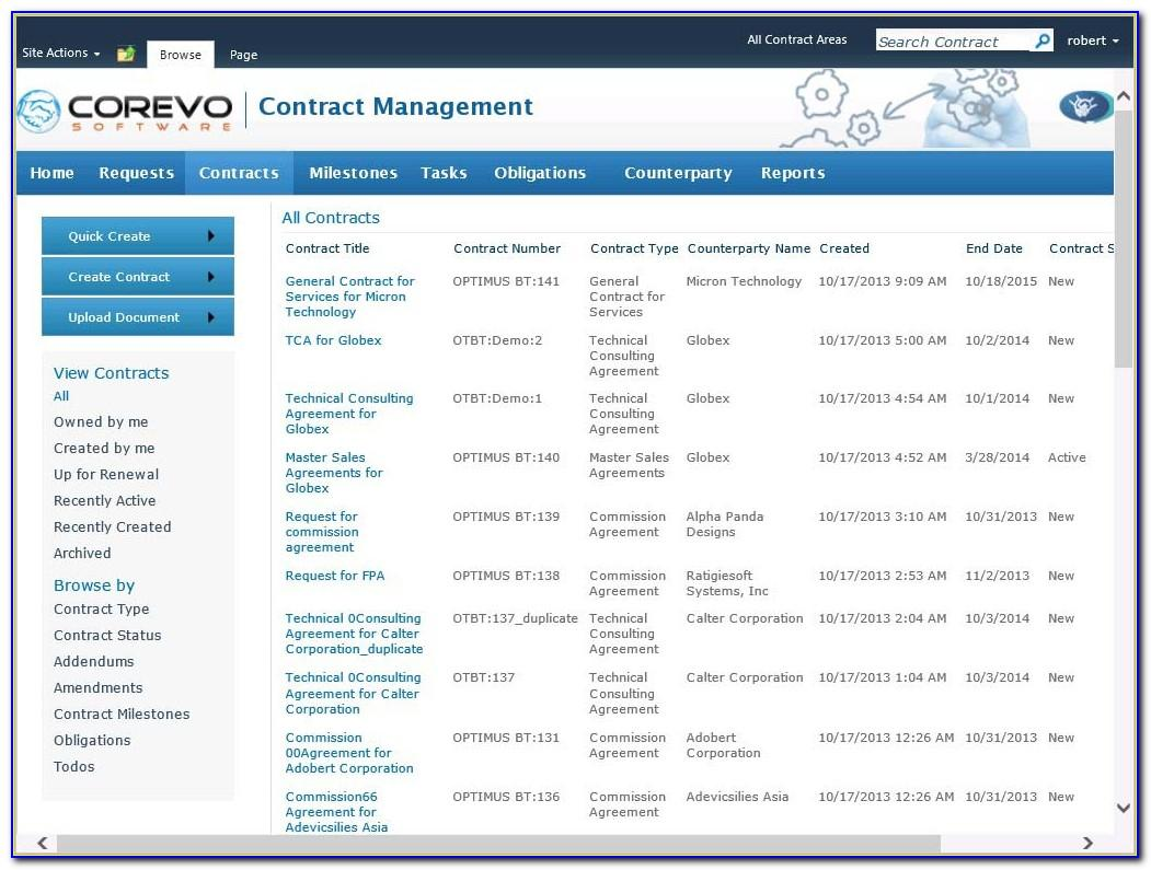 Sharepoint 2013 Contract Management Template Free