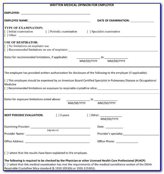 Silica Dust Exposure Control Plan Template