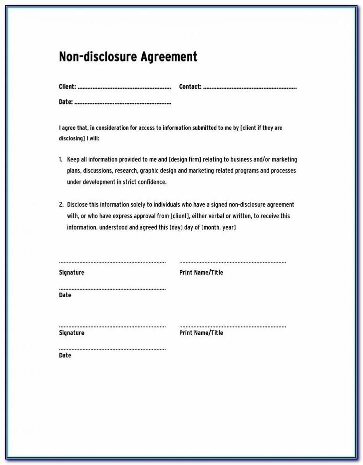 Simple Non Circumvention Agreement Template