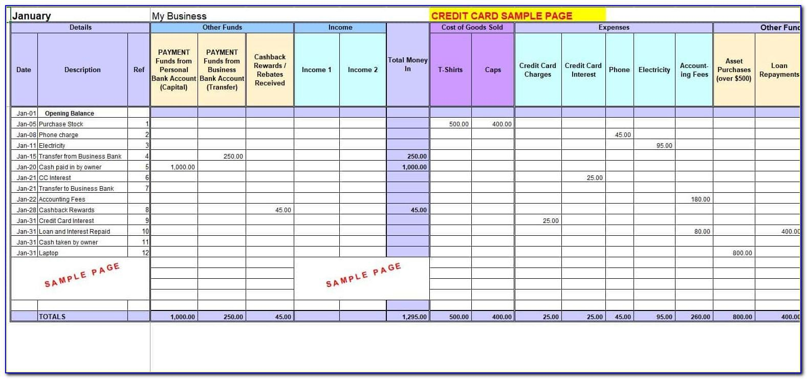 Small Business Accounting Excel Template India