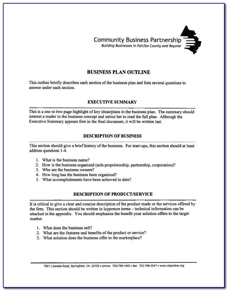 Sole Proprietorship Business Plan Example