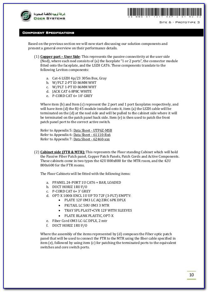 Structured Cabling Proposal Template