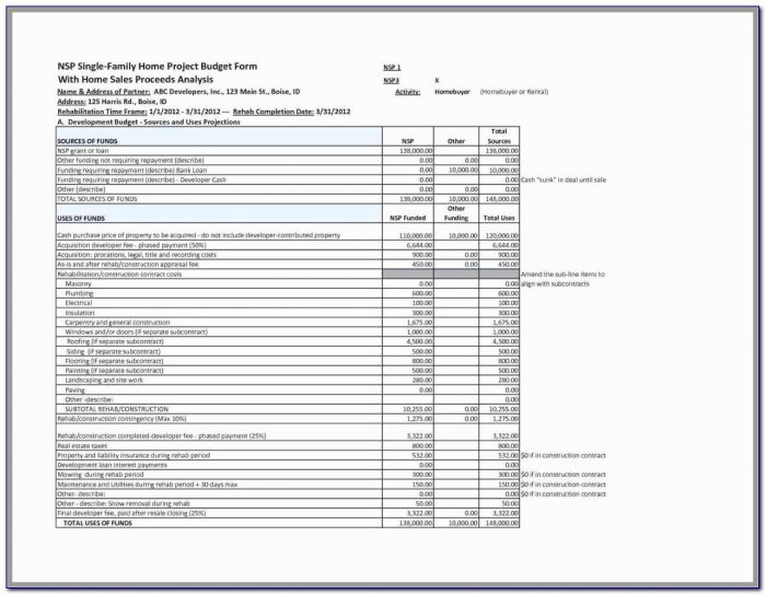 Subcontractor Schedule Of Values Template