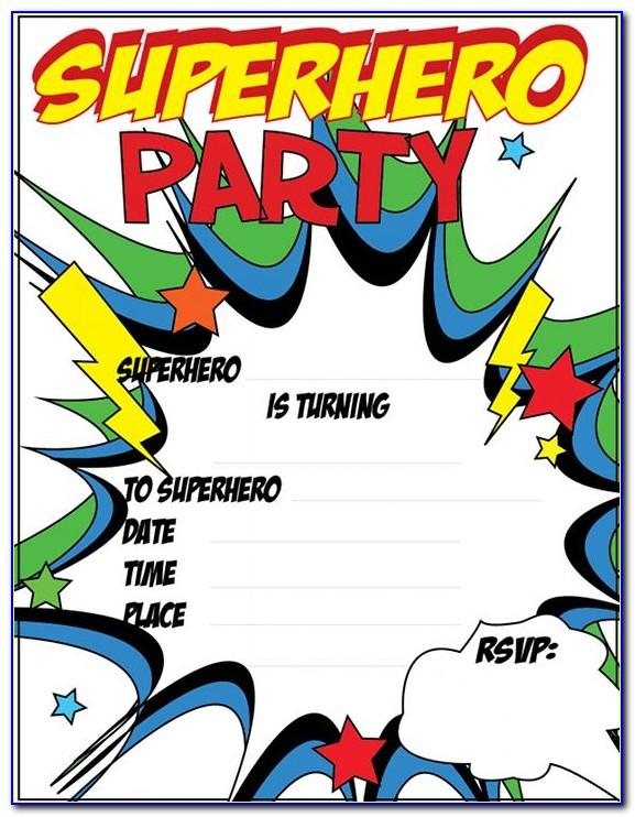 Superhero Invitation Template Download