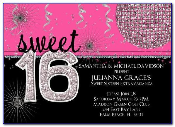 Sweet 16 Birthday Invitations Templates