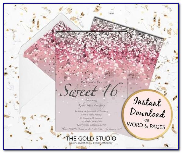 Sweet 16 Birthday Party Invitation Templates