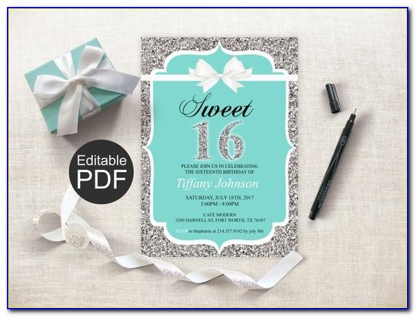 Sweet Sixteen Birthday Invitation Templates