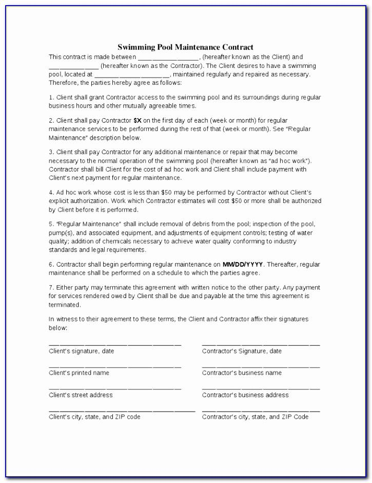 Swimming Pool Waiver Release Form