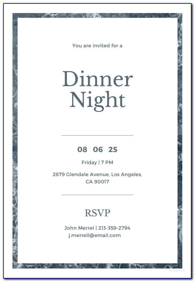Team Dinner Invitation Sample Email