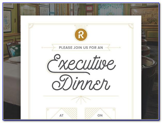 Team Dinner Invitation Sample