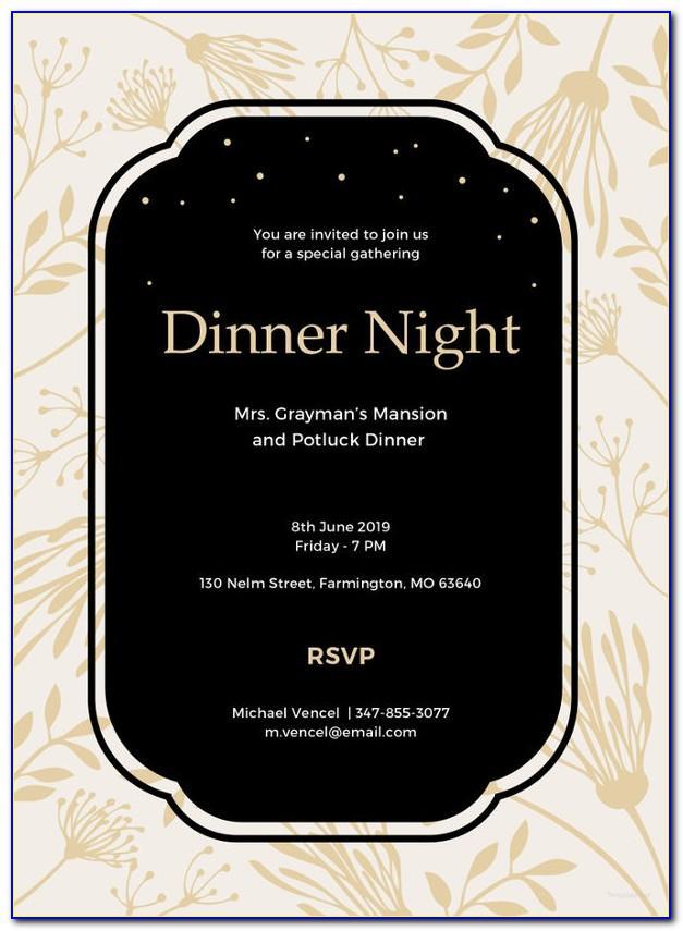 Team Dinner Invitation Template Free