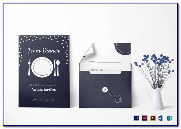 Team Dinner Invitation Wording