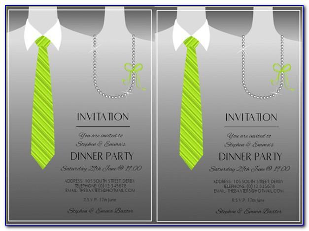 Team Dinner Party Invitation Wording