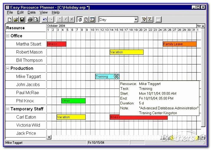 Team Resource Planning Template Xls