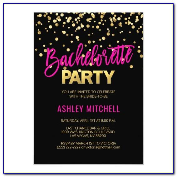 Template For Bachelorette Party Invitations