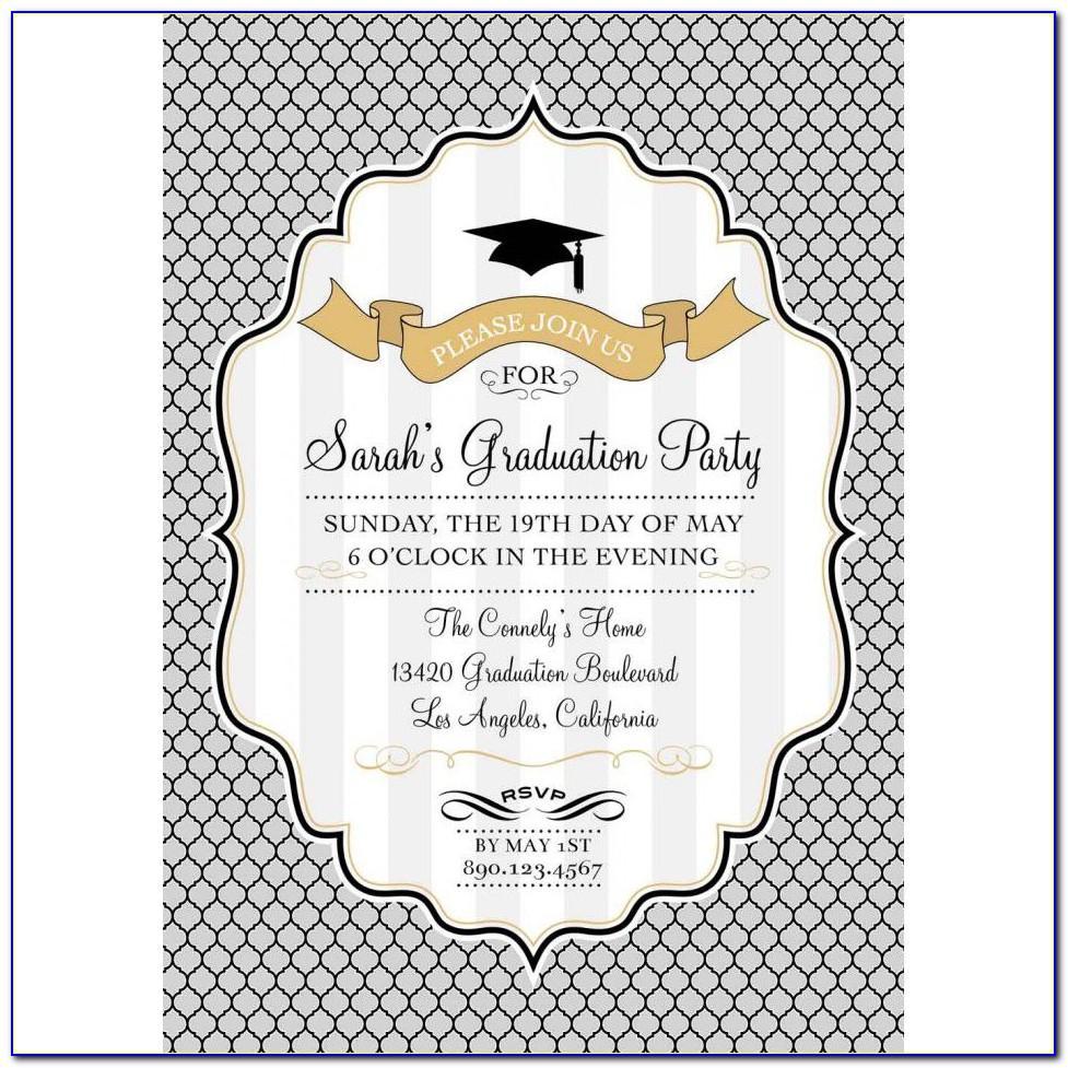 Template For Graduation Invitations