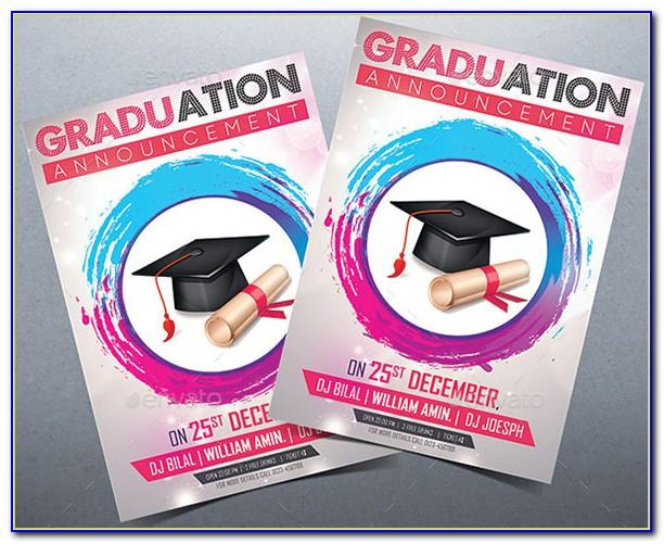 Template Graduation Invitation Psd Free