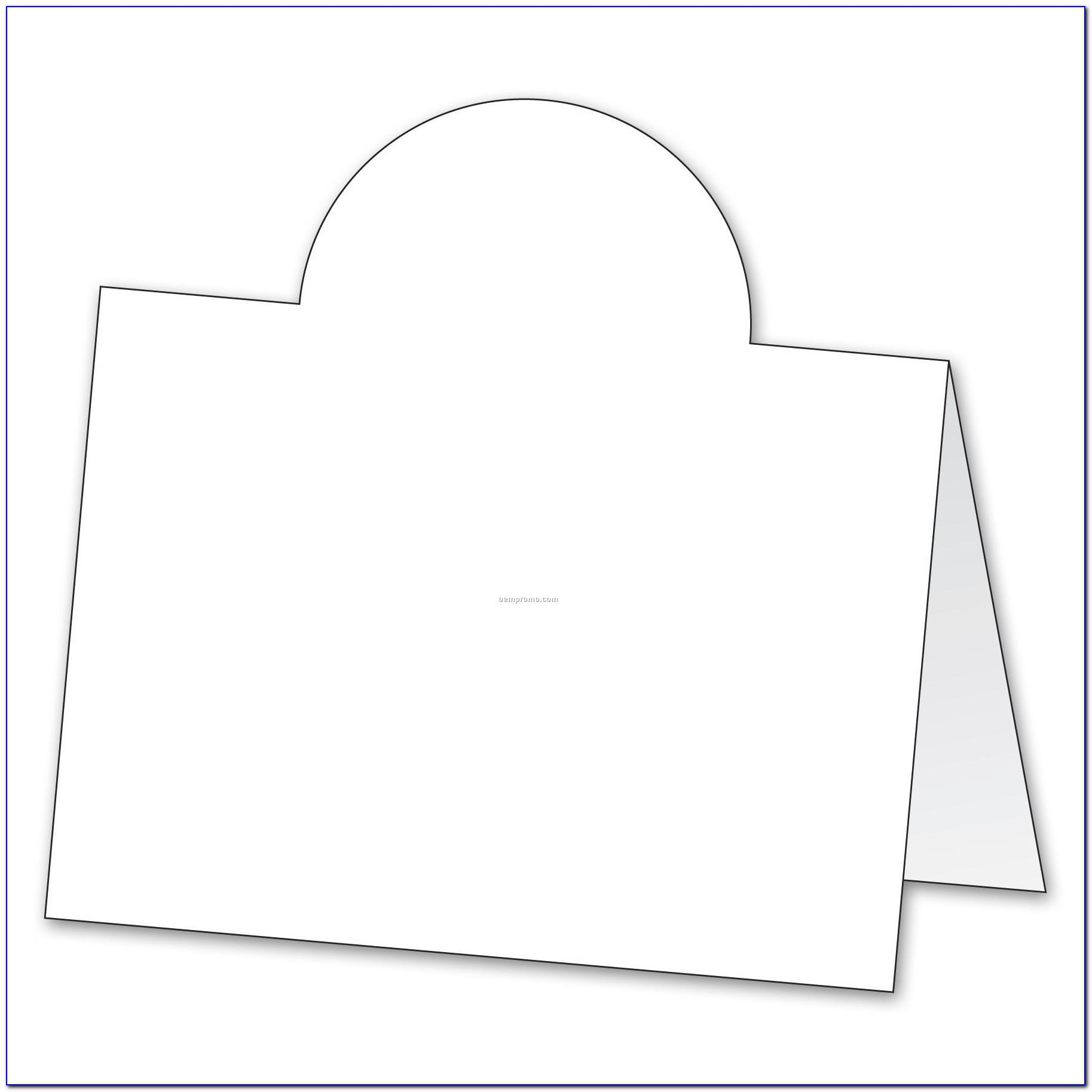 Tent Style Name Card Template