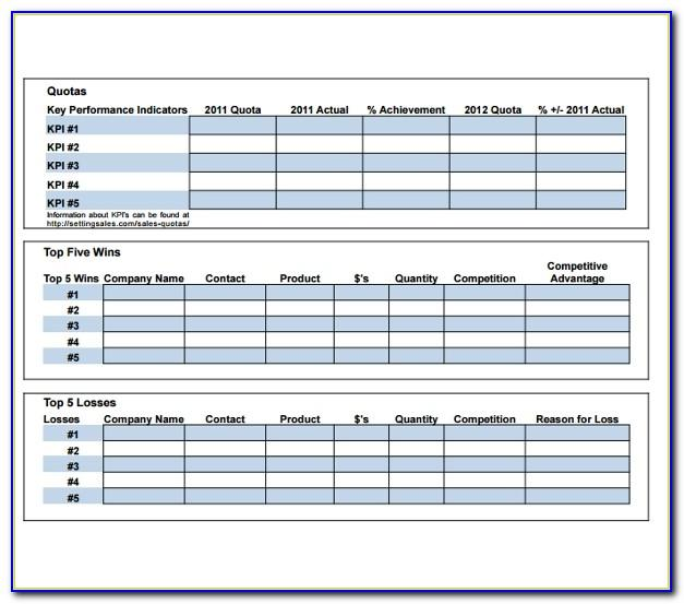 Territory Sales Plan Template Excel
