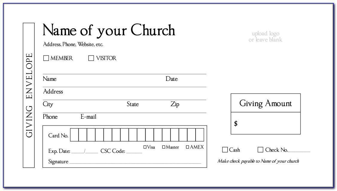 Tithe Envelope Template
