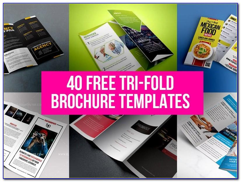 Tri Fold Brochure Template Free Download Psd