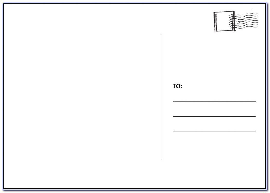 Usps Jumbo Postcard Template