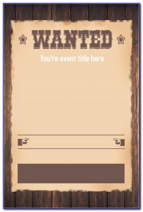 Wanted Birthday Invitation Template