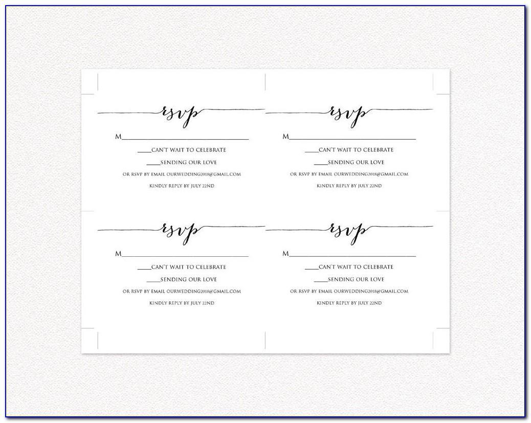 Wedding Rsvp Form Template