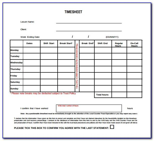 Weekly Timesheet Template For Mac