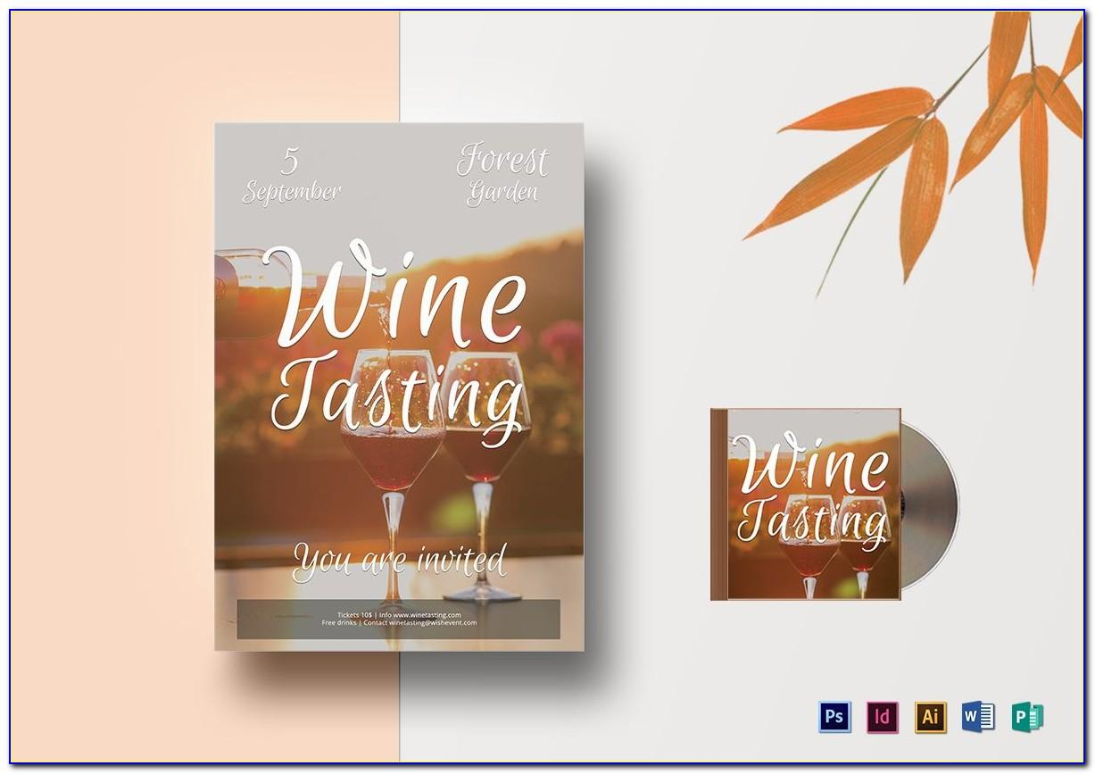 Wine Tasting Fundraiser Flyer Template Free