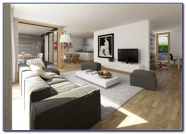 Wohnzimmer Esszimmer Und Büro In Einem Raum