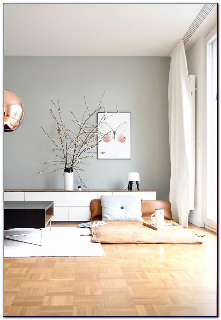 Wohnzimmer Ideen Wand Streichen Grau