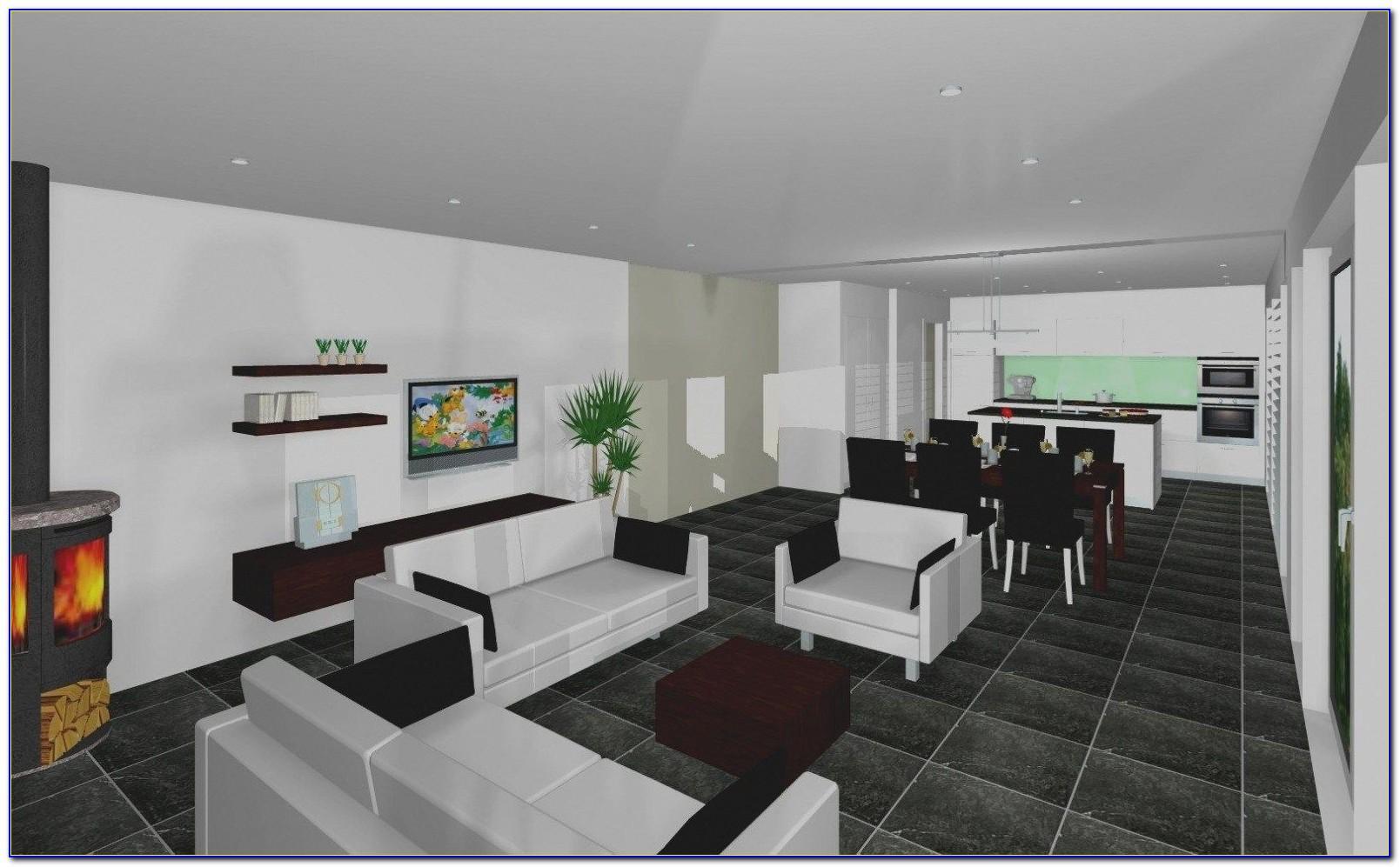 Wohnzimmer Und Küche In Einem Kleinen Raum