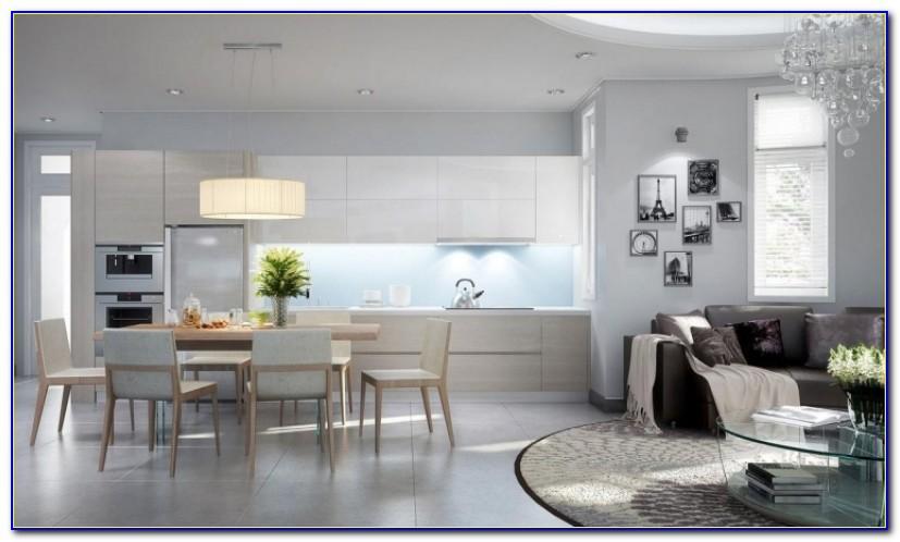 Wohnzimmer Und Küche In Einem Raum Einrichten