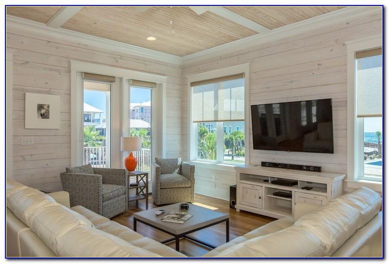 Wohnzimmer Wand Weiß Holz
