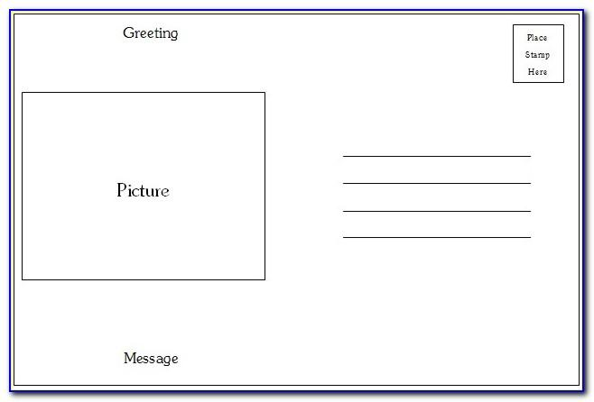 Word Templates For Postcards