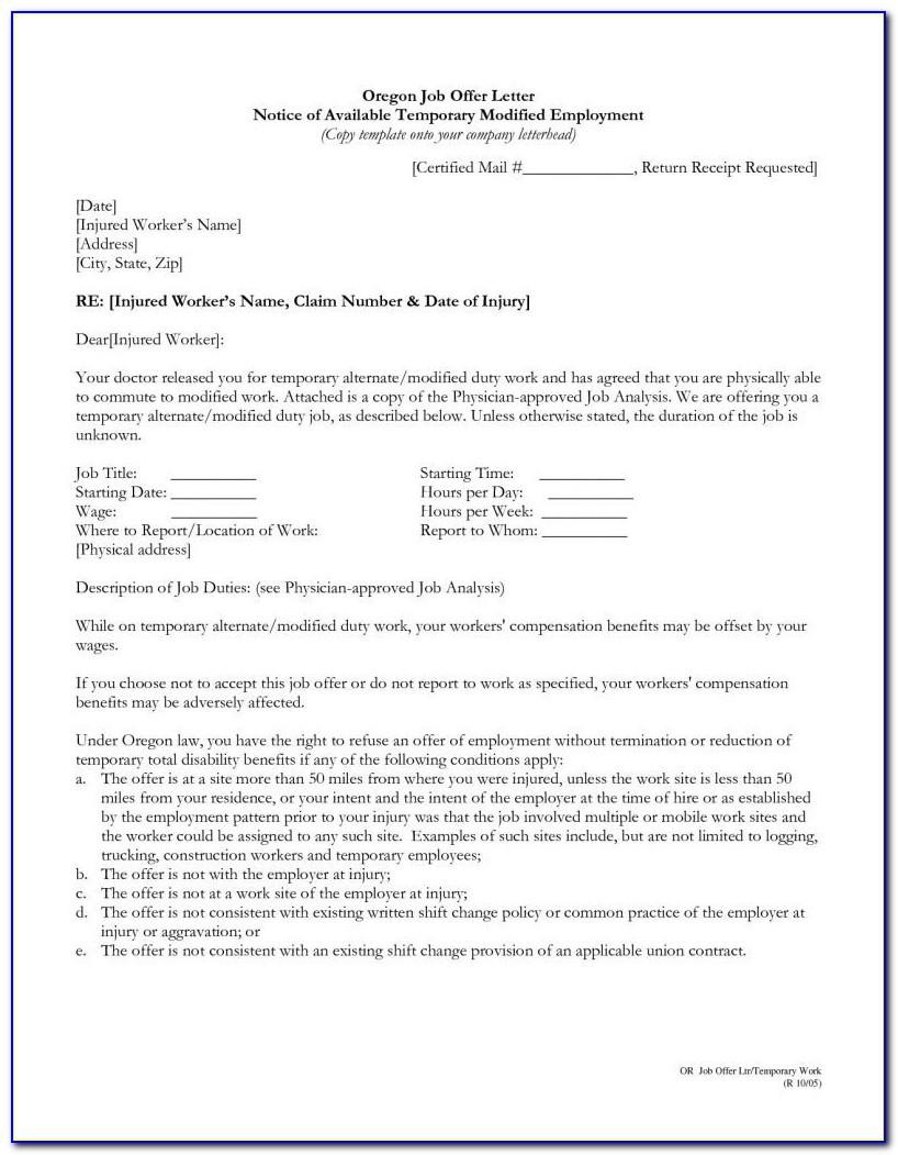 Workers Compensation Denial Letter Template