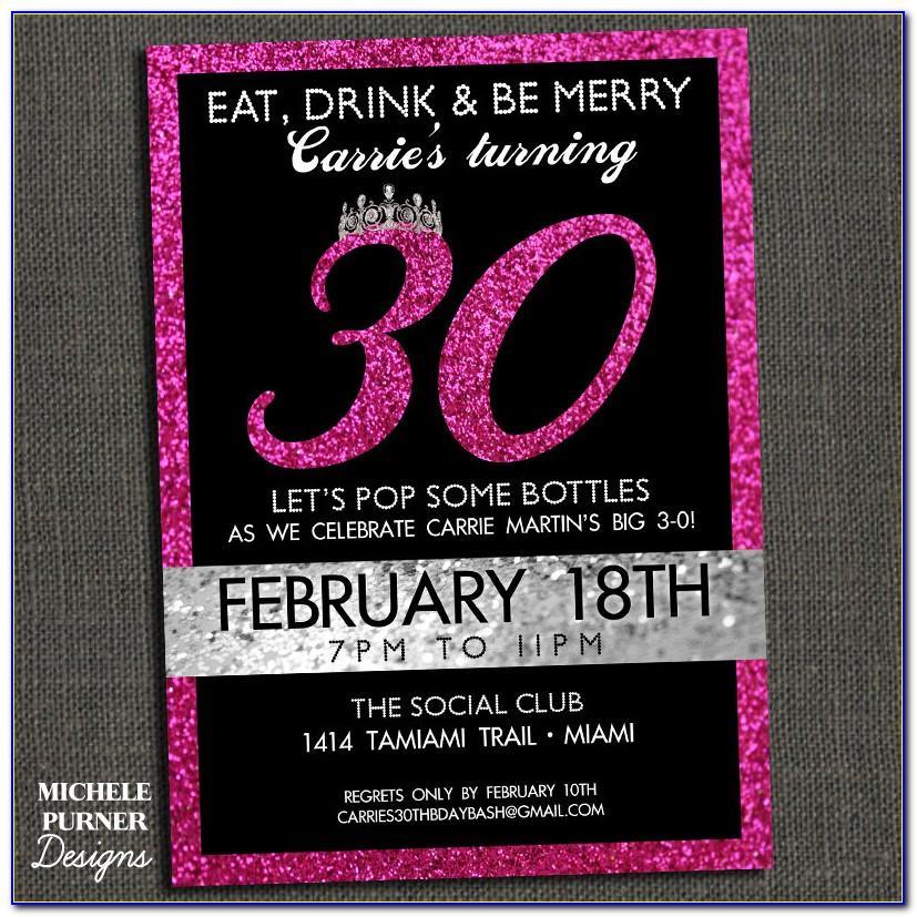 30th Anniversary Invitation Template Free