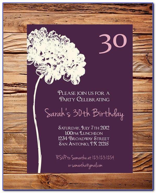 30th Wedding Anniversary Invitations Free Templates