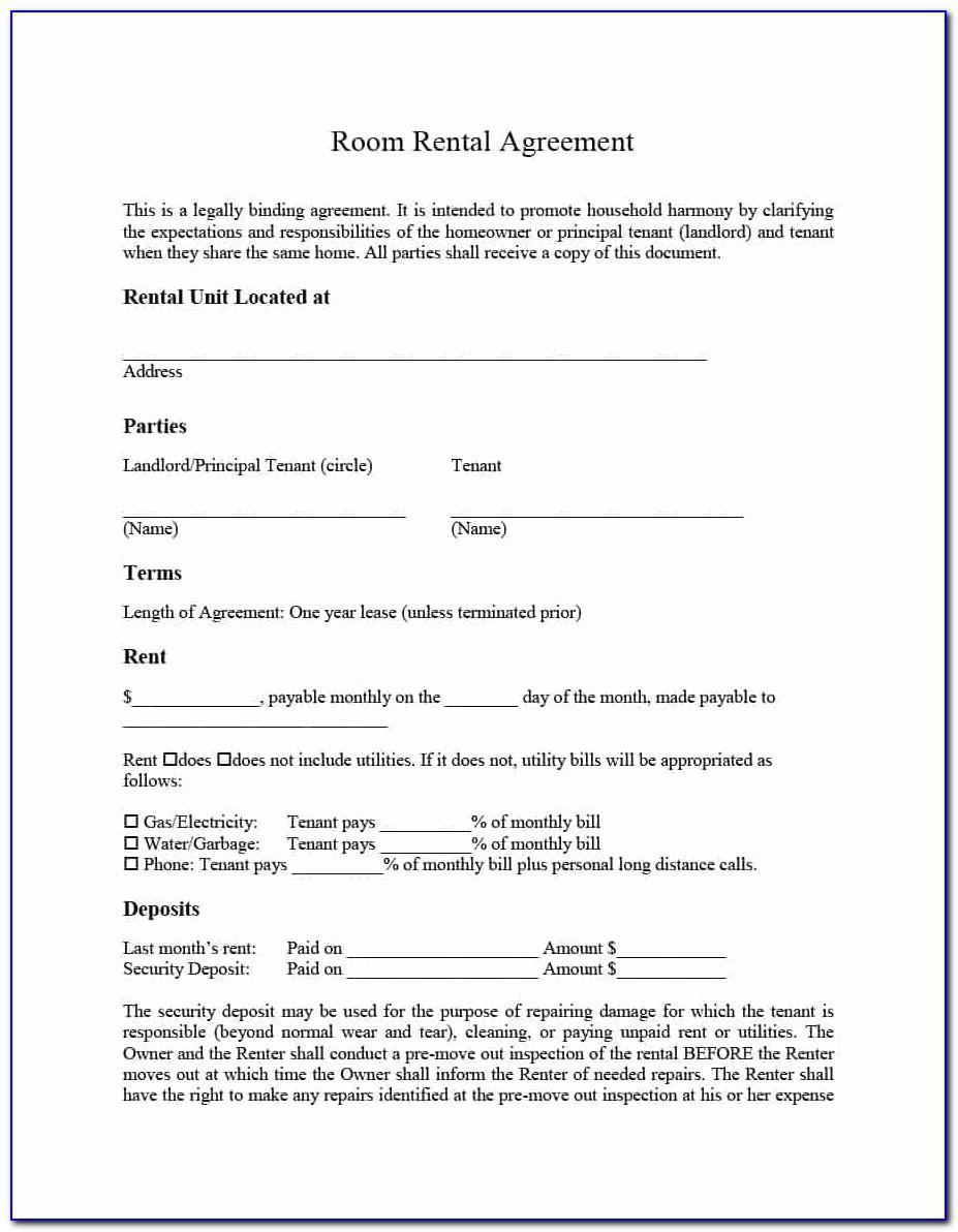 39 Simple Room Rental Agreement Template