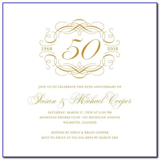 50th Anniversary Invitation Designs