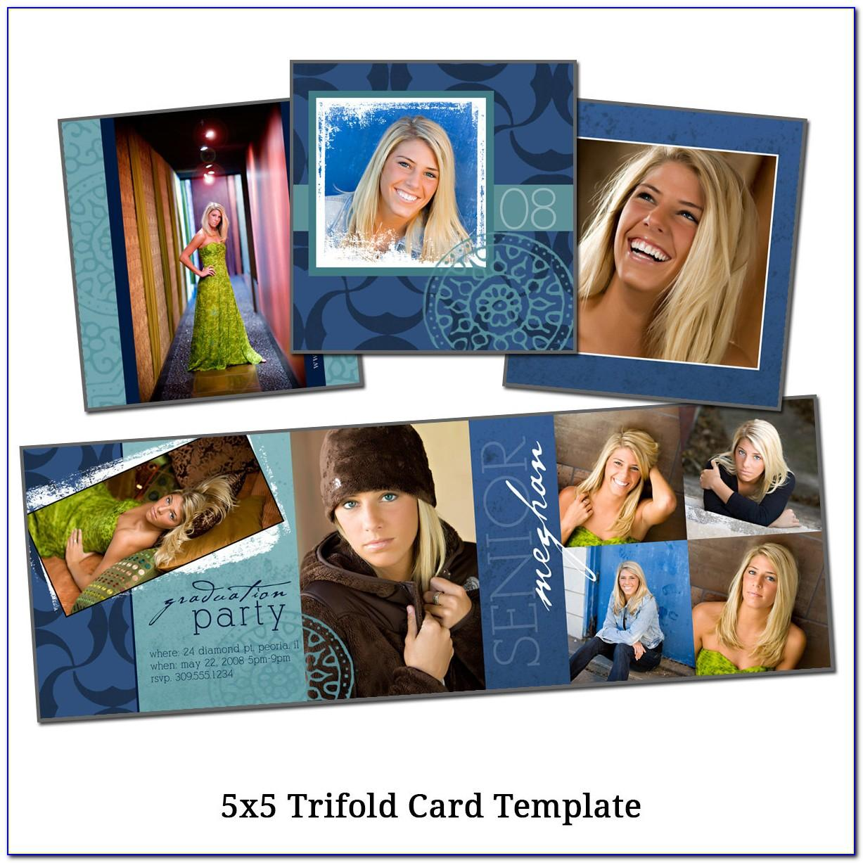 5x5 Trifold Card Template