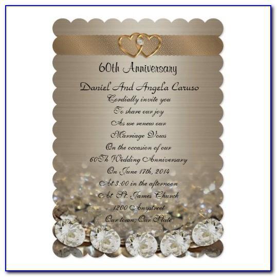 60th Anniversary Invitation Templates Free