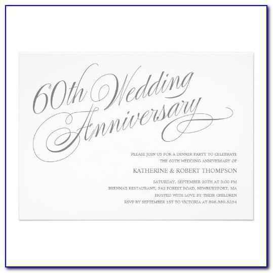 60th Anniversary Invitations Templates