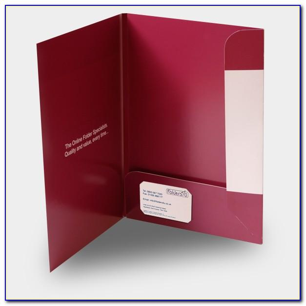 A4 Folder Template With Business Card Slot