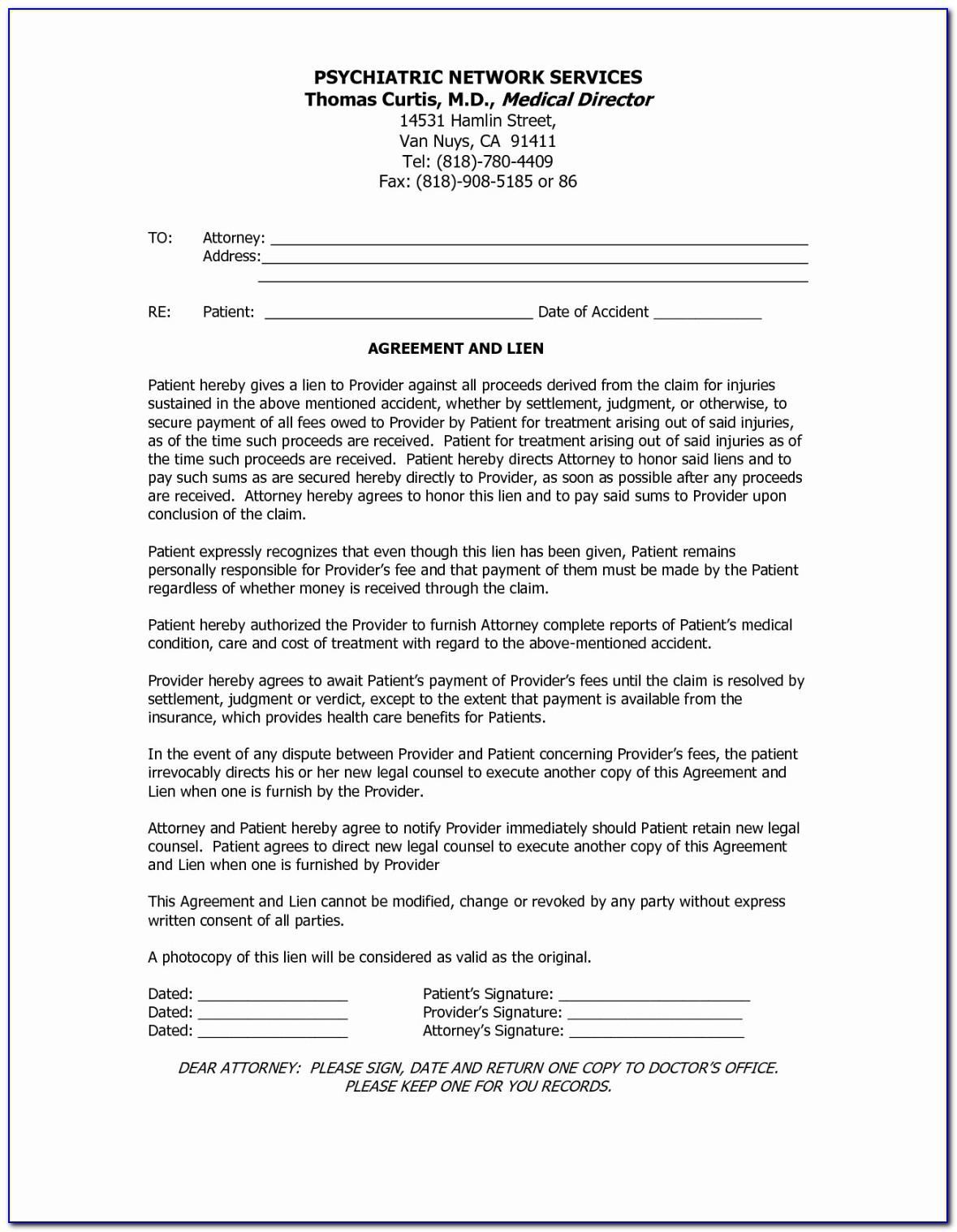 Accident Settlement Agreement Letter