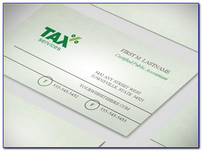 Accounting Business Card Templates Free